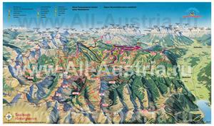 Туристическая карта горнолыжного курорта Зальбах-Хинтерглемм