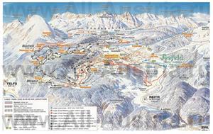 Подробная карта горнолыжного курорта Зеефельд с трассами
