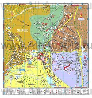 Туристическая карта Зеефельда с отелями