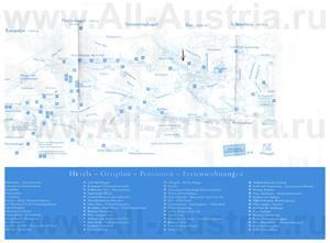 Подробная туристическая карта Земмеринга с отелями