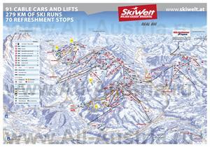 Подробная карта горнолыжного курорта Зёлль с трассами